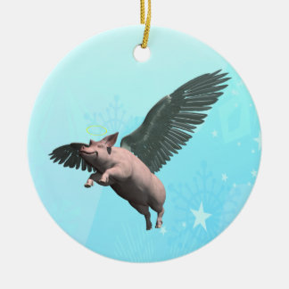 Angel Pig Christmas Ornament