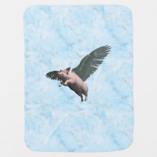 Angel Pig Pram blanket