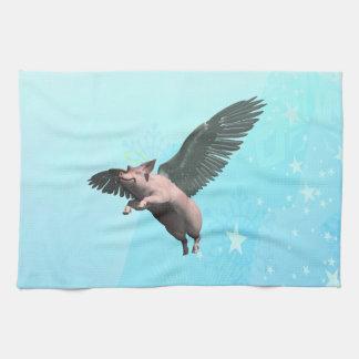 Angel Pig Tea Towel