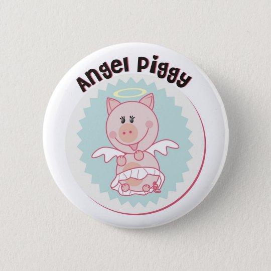 Angel_Piggy 6 Cm Round Badge