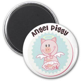 Angel_Piggy Refrigerator Magnets