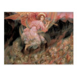Angel Piping to Souls in Hell by Evelyn De Morgan Postcards