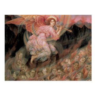 Angel Piping to Souls in Hell by Evelyn De Morgan Postcard