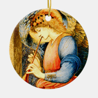 Angel Playing a Flageolet Fine Art Christmas Ornament