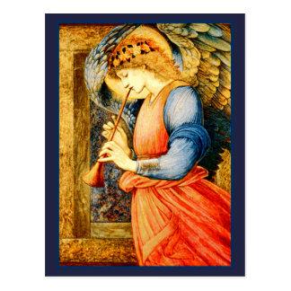 Angel Playing a Flageolet Fine Art Postcard