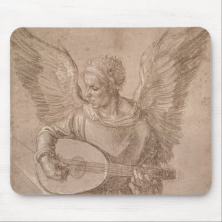 Angel playing a lute, 1491 mouse mat