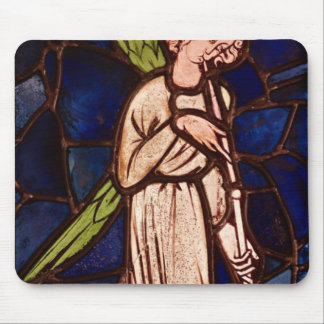 Angel playing a trumpet, c.1280 mouse pad
