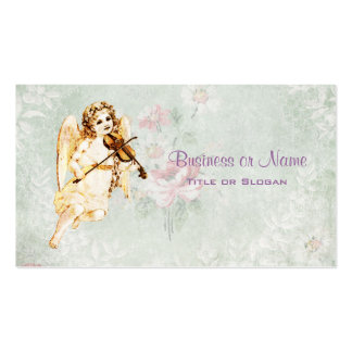 Angel Playing a Violin on Vintage Paper Background Pack Of Standard Business Cards