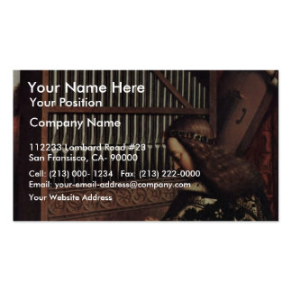 Angel Playing By Hubert Van Eyck (Best Quality) Pack Of Standard Business Cards