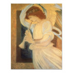 Angel Playing Flageolet Burne Jones, Vintage Music Announcement