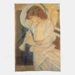 Angel Playing Flageolet Burne Jones, Vintage Music Towels