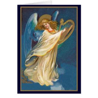 Angel Playing Harp Card