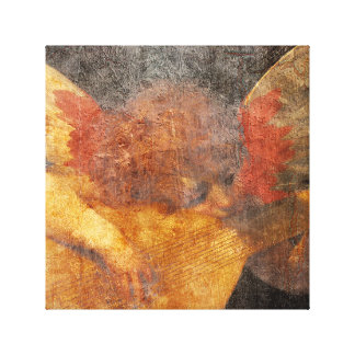 Angel Playing Music Canvas Print