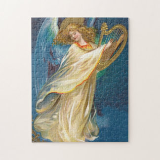 Angel Playing Music On A Harp Jigsaw Puzzle
