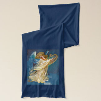 Angel Playing Music On A Harp Scarf