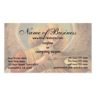 Angel Playing the Violin by Melozzo da Forlì Business Card Templates