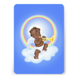 Angel Playing Trumpet Custom Invitation