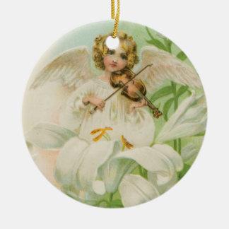 Angel Playing Violin Christmas Ornament