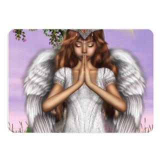 "Angel Prayers 5"" X 7"" Invitation Card"