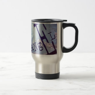 Angel print artwork travel mug