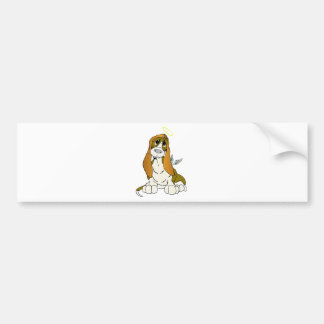 Angel Puppy Bumper Sticker