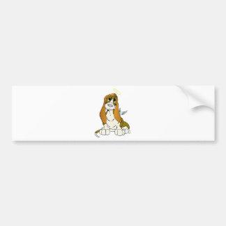 Angel Puppy Bumper Sticker