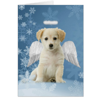 Angel Puppy Christmas Cards