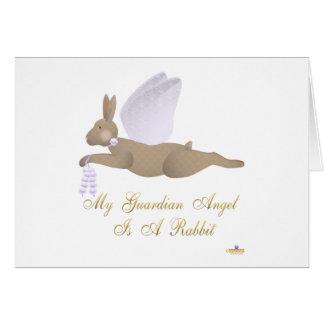 Angel Rabbit Brown Purple Roses Guardian Angel Rab Cards