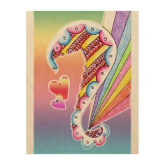 angel rainbow wood print
