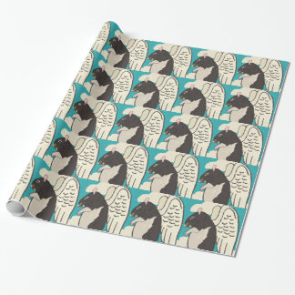 Angel rat glossy wrapping paper