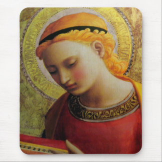 Angel Reading Bible Mouse Mat