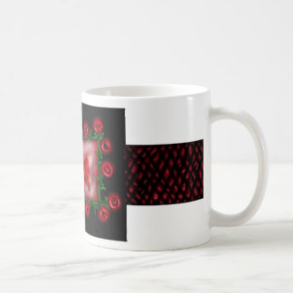 Angel Red, roses and dragon scales, mug
