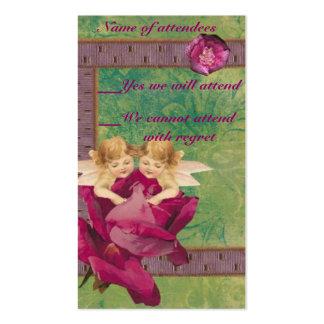 Angel Rose RSVP Cards Pack Of Standard Business Cards