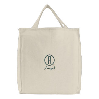 Angel s embroidered tote bag