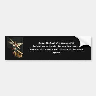 Angel Saint Michael & Prayer Bumper sticker Car Bumper Sticker