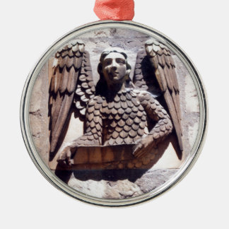 Angel Silver-Colored Round Decoration