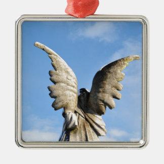 Angel Silver-Colored Square Decoration
