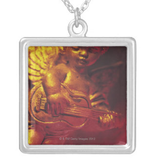 angel silver plated necklace