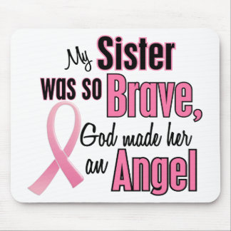 Angel SISTER Breast Cancer T-Shirts & Apparel Mouse Mat