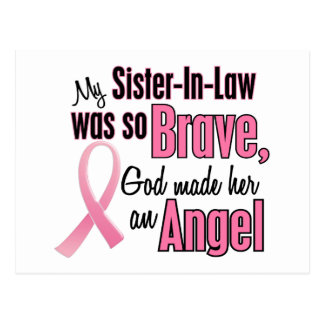 Angel SISTER-IN-LAW Breast Cancer T-Shirts Postcard