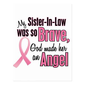 Angel SISTER-IN-LAW Breast Cancer T-Shirts Post Card