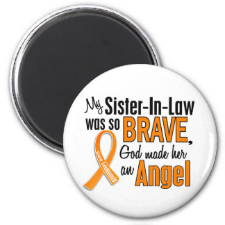 Angel Sister-In-Law Leukemia Refrigerator Magnets