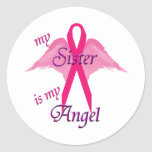 Angel Sister Round Sticker