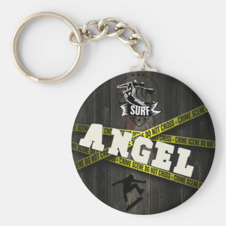 ANGEL - Skater Style Basic Round Button Key Ring