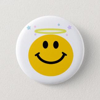 Angel Smiley 6 Cm Round Badge