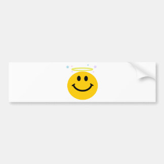 Angel Smiley Bumper Sticker