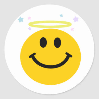 Angel Smiley Classic Round Sticker