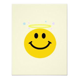Angel Smiley face 11 Cm X 14 Cm Invitation Card
