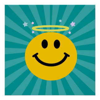Angel Smiley face Poster