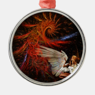Angel Space Christmas Ornament